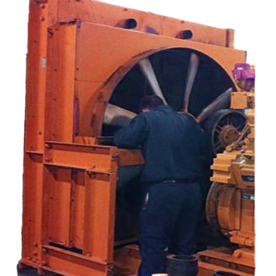 On Site Generator Radiator Replacement