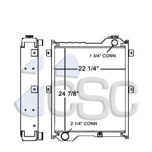 Case Radiator 103RA044