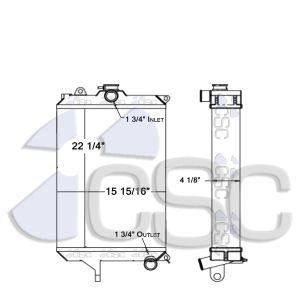 Case Radiator 103RA139