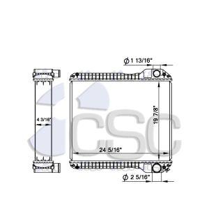 Case/ JCB Radiator 103RA046