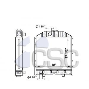 Ford / New Holland Radiator 367RA017