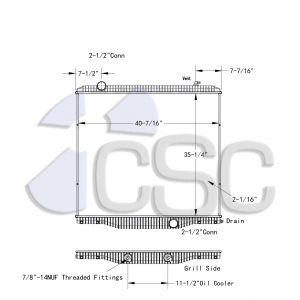 International Radiator 615RA2779