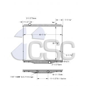 International Radiator 615RA2848