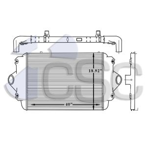 Chevy/GM Charge Air Cooler 605CA110