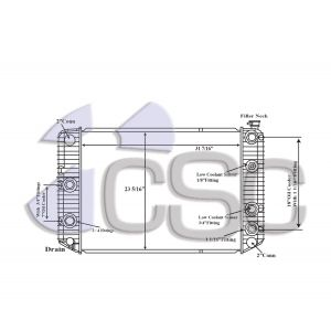 GMC Radiator 605RA011