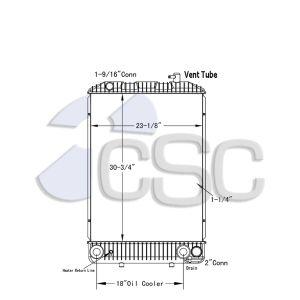 GMC Radiator 605RA031