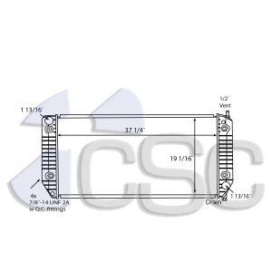 GMC Radiator 605RA033