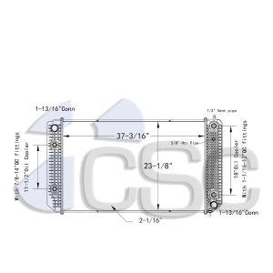 GMC Radiator 605RA043