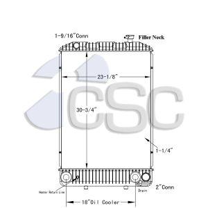 GMC/ ISUZU Radiator 605RA047