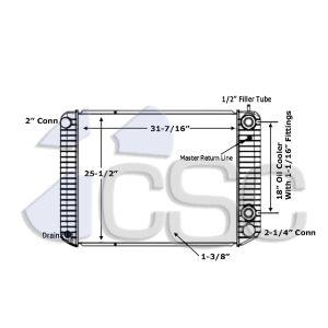 GMC Radiator 605RA9120