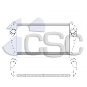 International Charge Air Cooler 615CA134