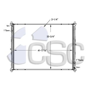International Prostar Radiator 615RA8475