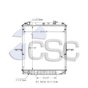 Isuzu Radiator 617RA027
