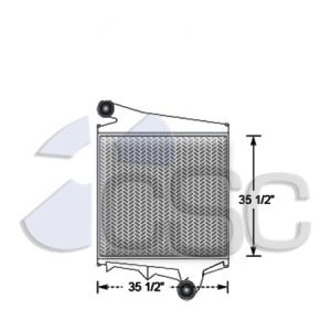 Volvo Charge Air Cooler 637CA123CW