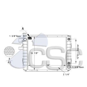 Hyster / Yale Forklift Radiator 519RA019