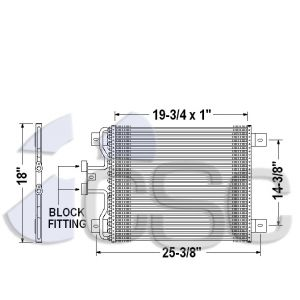 International AC Condenser 615AC300