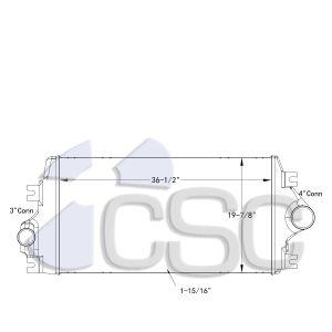 International Navistar Charge Air Cooler 615CA0404