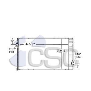 International Radiator 615RA026