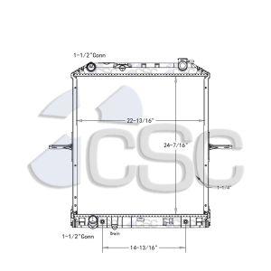Isuzu/GMC Radiator 617RA9411WF