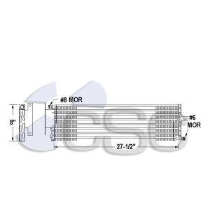 Kenworth AC Condenser 619AC011