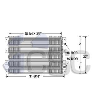 Kenworth AC Condenser 619AC342