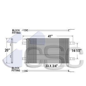 Peterbilt/ Kenworth AC Condenser 619AC359
