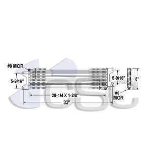 Mack AC Condenser 621AC021