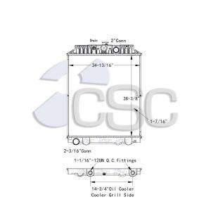 Nissan UD Radiator 629RA9469