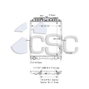 Nissan UD Radiator 629RA9469WF