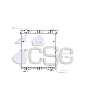 Iveco Radiator 647RA009