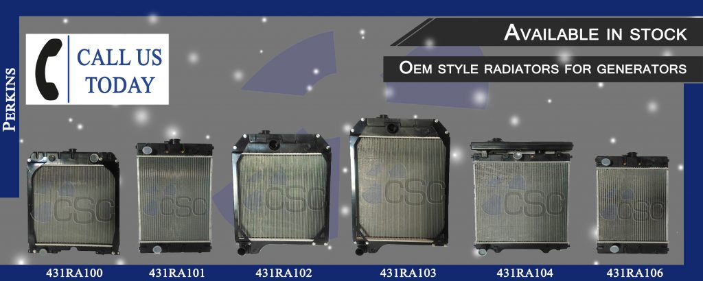 Line of OEM Style Radiators for Perkins/Caterpillar Powered