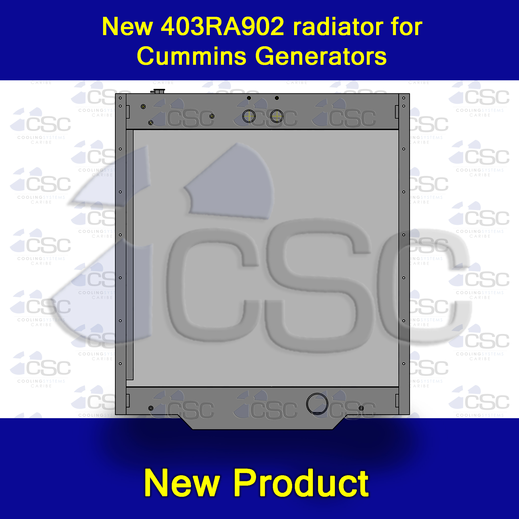 New 403RA902 radiator for Cummins powered generators