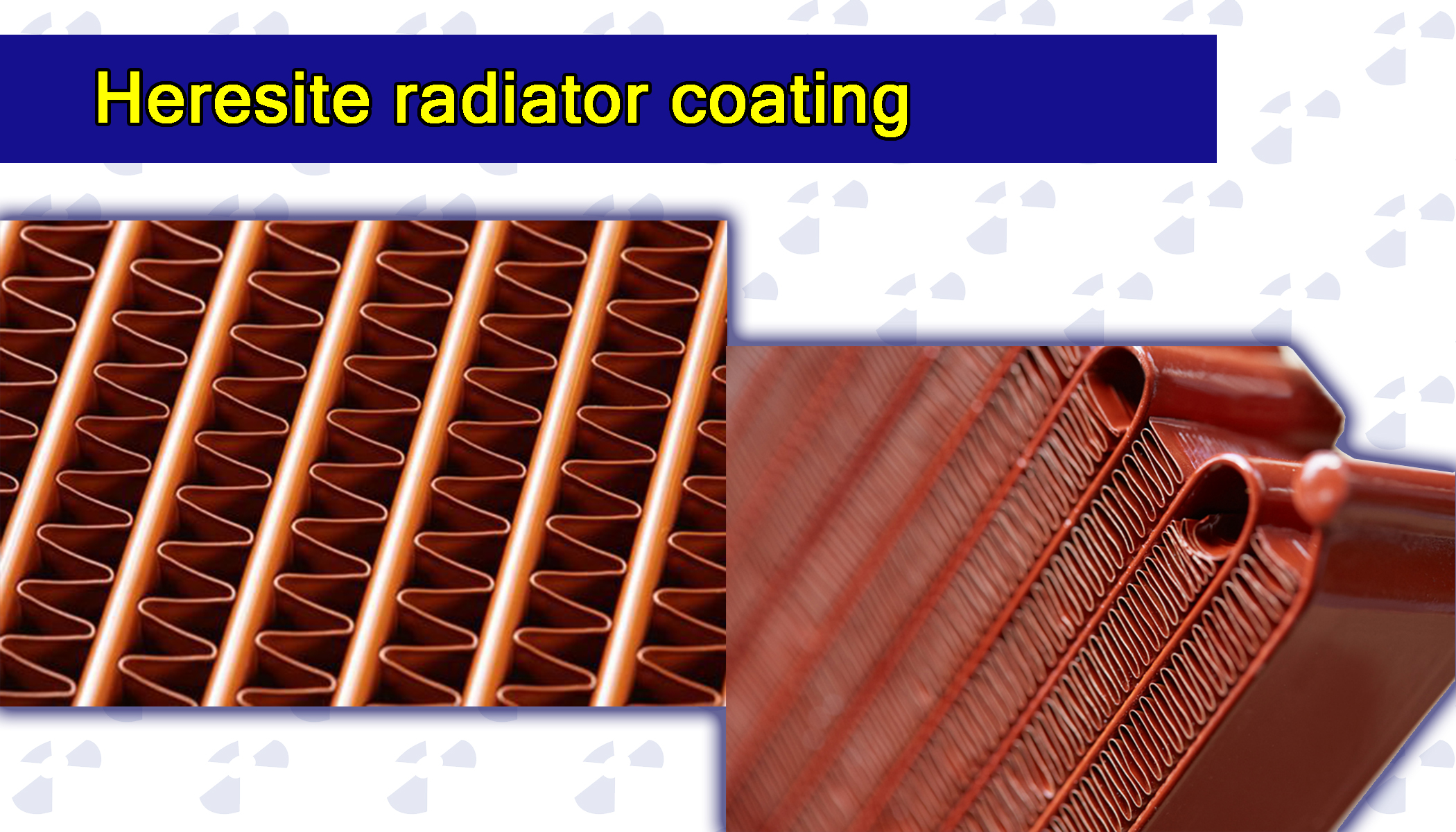 Heresite radiator coating