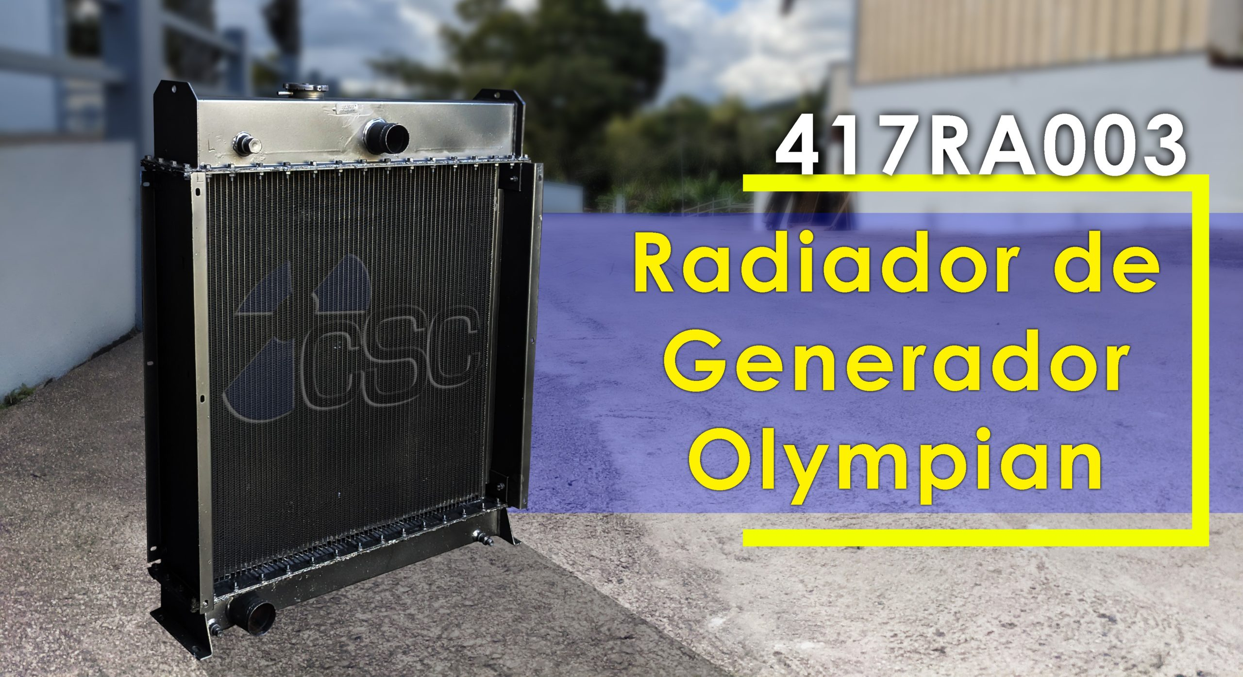 Plazo de entrega rápido para radiador de generador CAT Olympian GEP88SP1 de 100kw (417RA003)