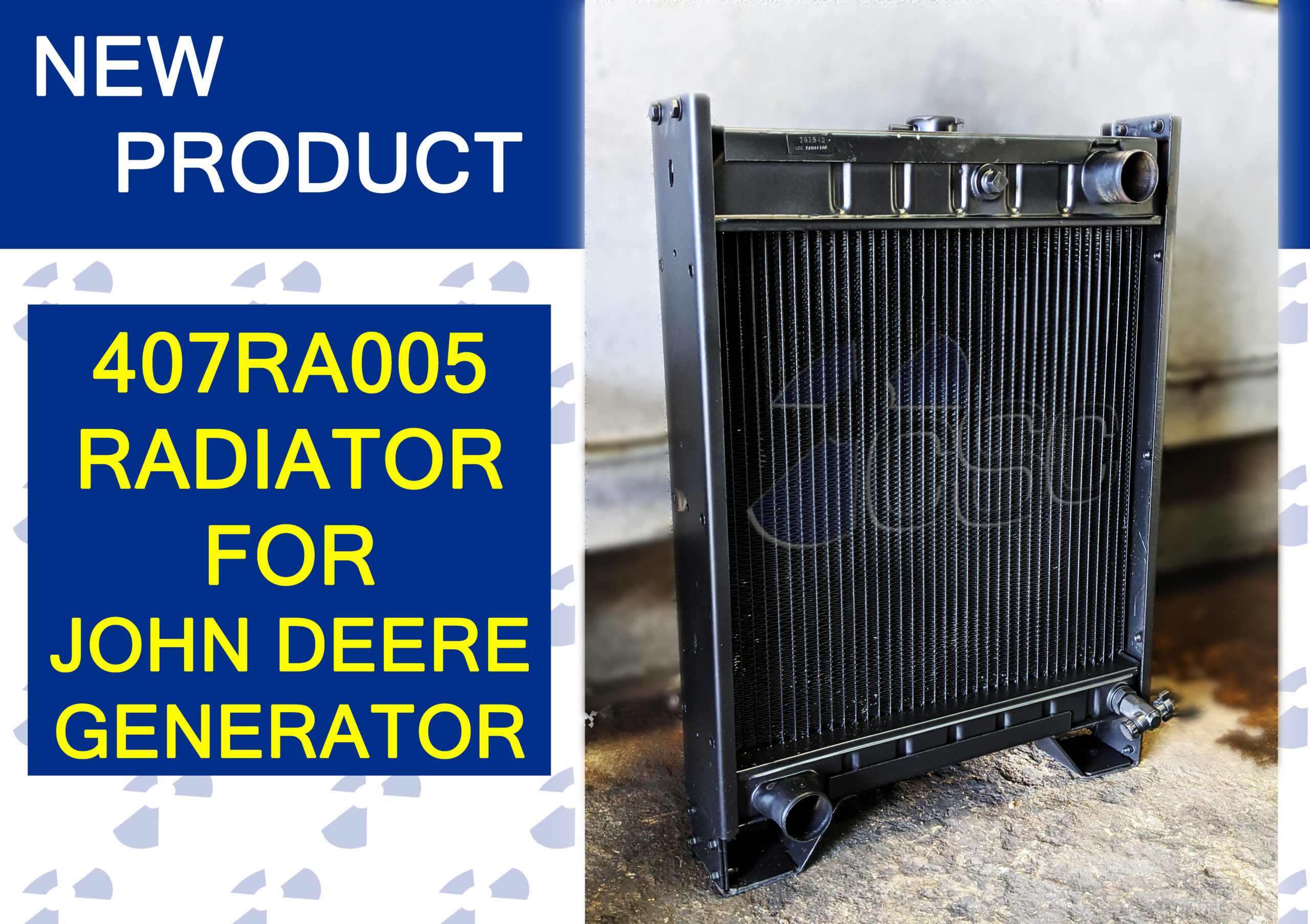 New 407RA005 Radiator for John Deere Generator