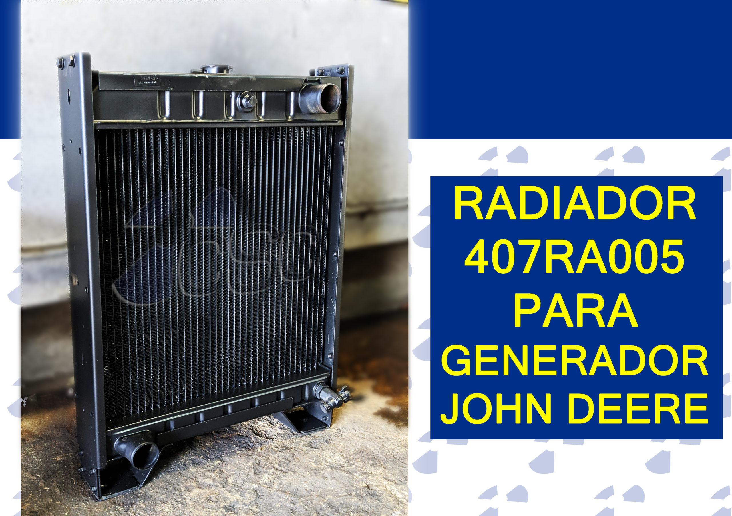 Nuevo Radiador 407RA005 para Generador John Deere