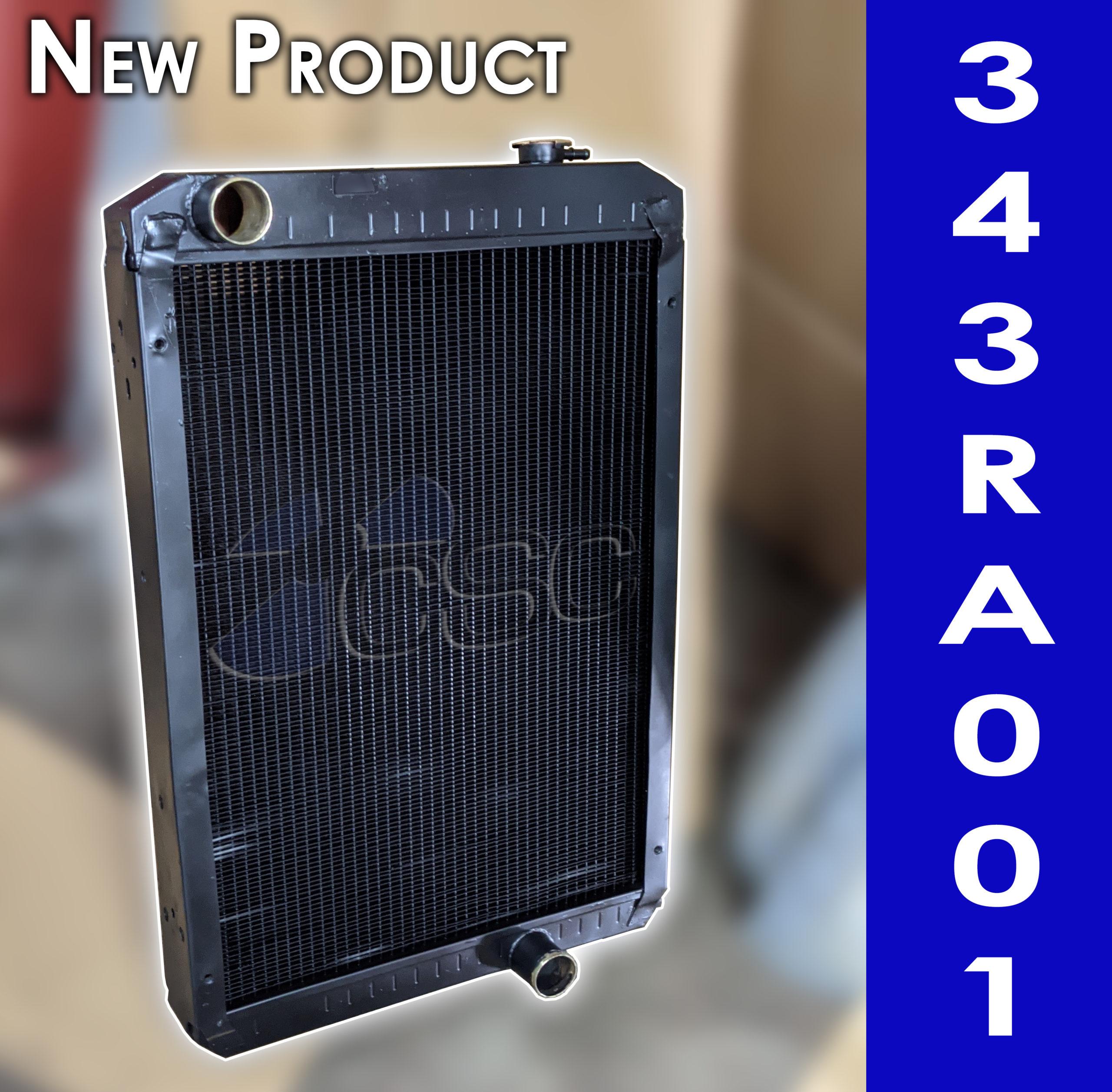 New 343RA001 radiator for John Deere 310G Backhoe Loader