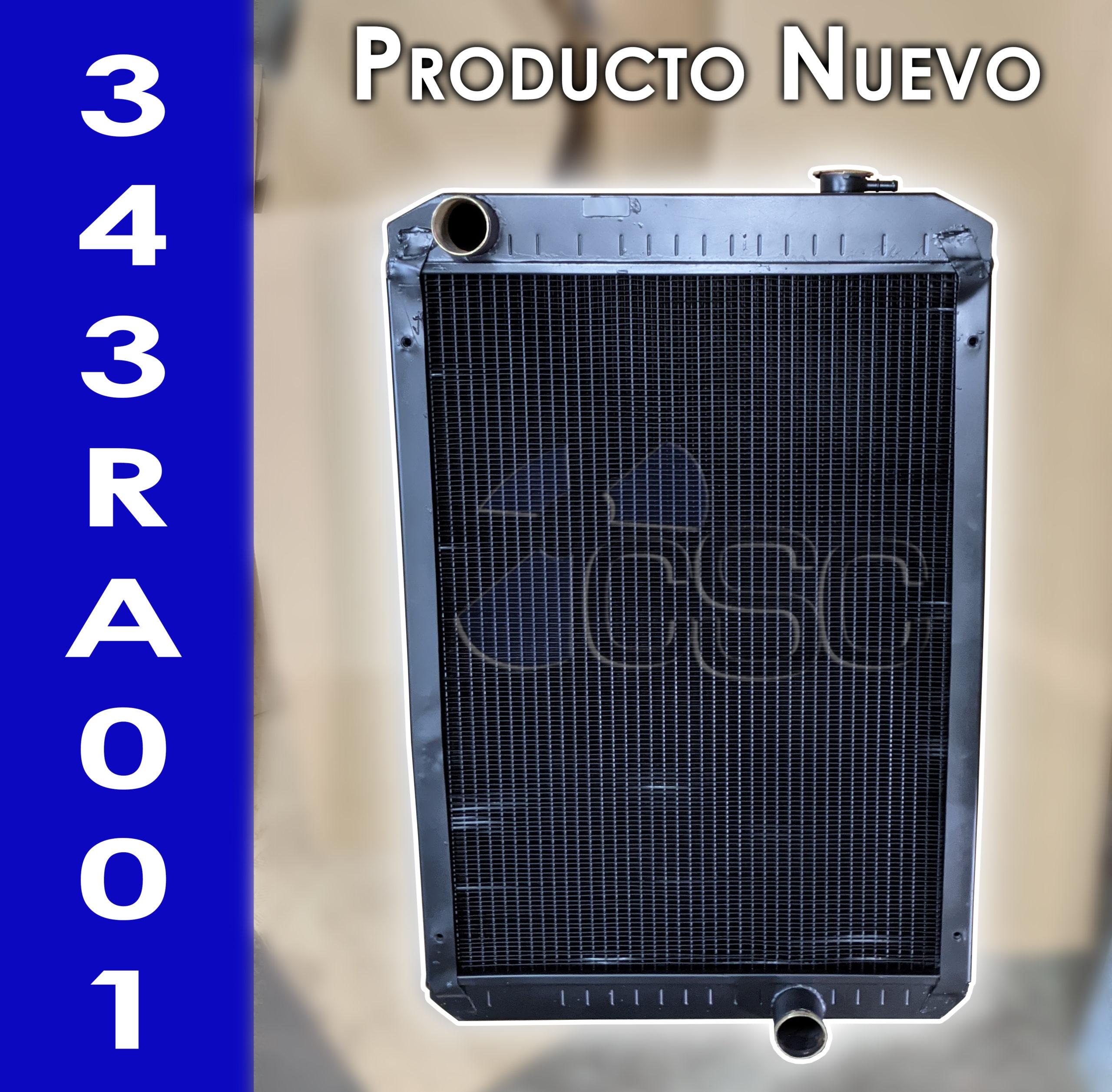 Nuevo radiador 343RA001 para Retroexcavadora John Deere 310G