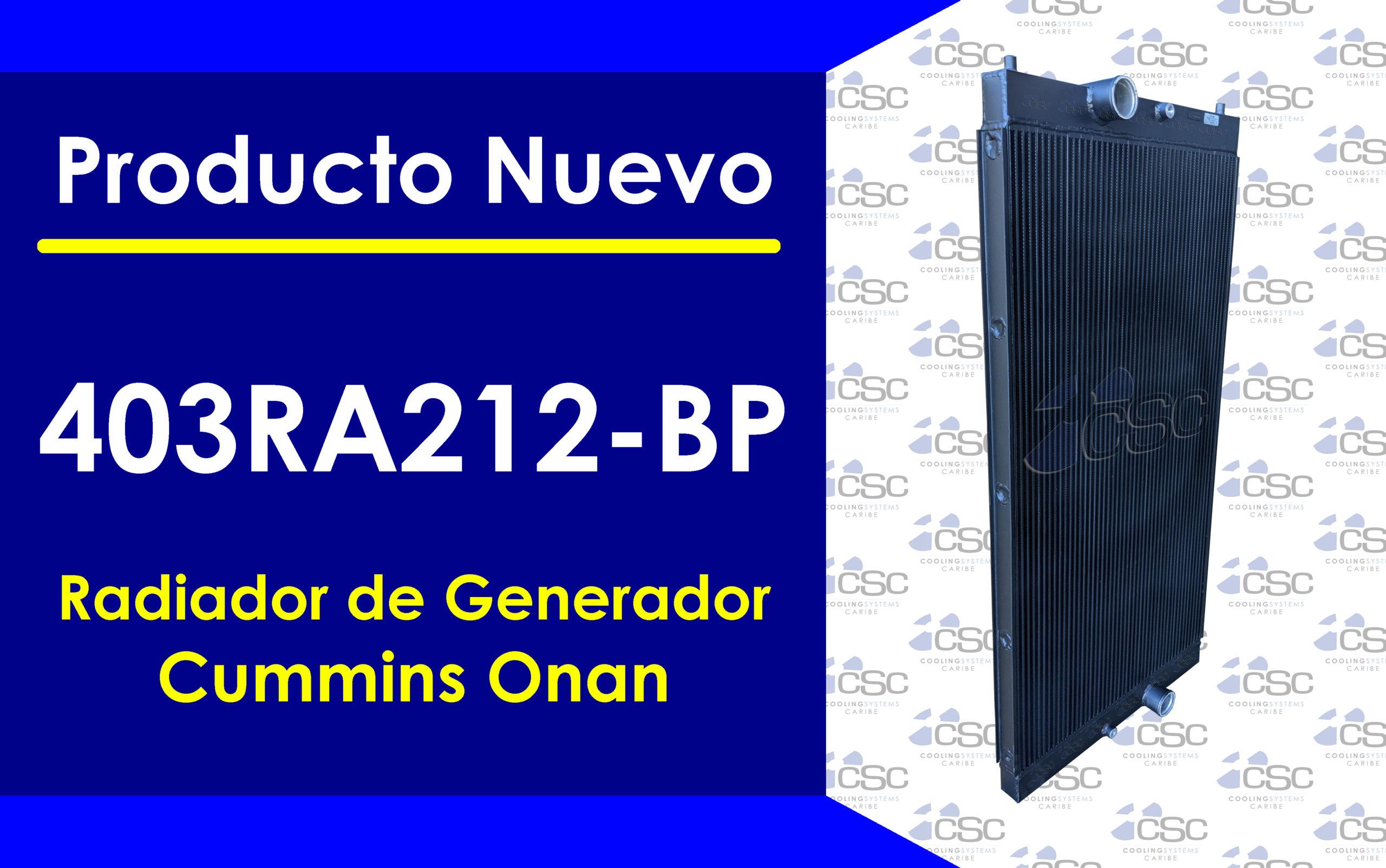 Presentamos el radiador 403RA212-BP para el generador QSK15 Cummins 500kw